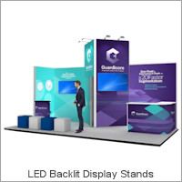 Image of an Nomadic Display Backlit Fabric Display Stand