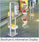 Image of a Brochure and Information Display Stand