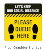 Image of a Covid-19 Floor Graphic Sign