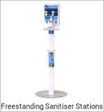 Image of a Freestanding Sanitiser Stations