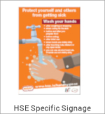 Image of a Covid-19 HSE Specific Sign