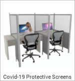 Image of a Covid-19 Protective Screen Divider