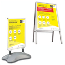 Image of Covid-19 Indoor / Outdoor Display Stand Products