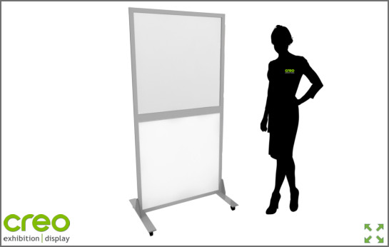 Image of a Covid-19 Freestanding Screen Dividers from Creo Ireland