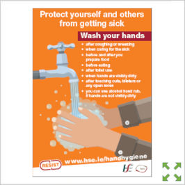 Image of a Covid-19 HSE Hand Hygiene Poster from Creo Ireland