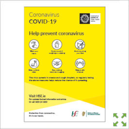 Image of a Covid-19 HSE Help Prevent Poster from Creo Ireland