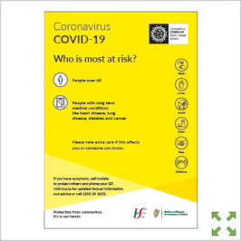 Image of a Covid-19 HSE Most at Risk Poster from Creo Ireland