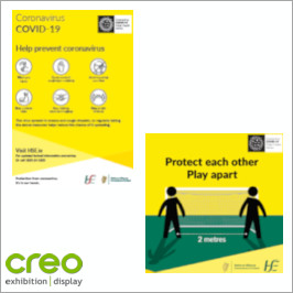 Image of Covid-19 HSE Specific Signage from Creo Ireland