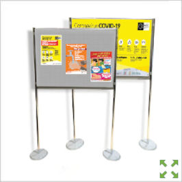 Image of a Covid-19 Poster Display Stand from Creo Ireland