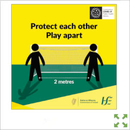 Image of a Covid-19 HSE Protect Each Other Play Apart Poster from Creo Ireland