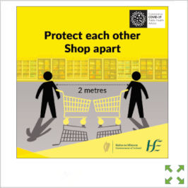 Image of a Covid-19 HSE Protect Each Other Shop Apart Poster from Creo Ireland
