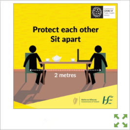 Image of a Covid-19 HSE Protect Each Other Sit Apart Poster from Creo Ireland