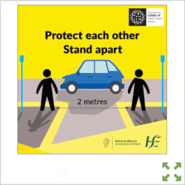 Image of a Covid-19 HSE Protect Each Other Stand Apart Poster from Creo Ireland