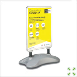 Image of a Covid-19 Sightmaster Outdoor Pavement Sign from Creo Ireland