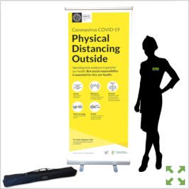 Image of a Covid-19 Starter Pull Up Banner Stand from Creo Ireland