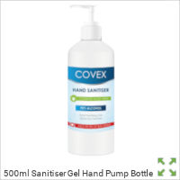 Image of a 500ml Sanitiser Gel Hand Pump Bottle from Creo Ireland