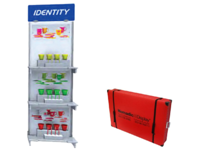 Image of a CDL013 Shelf Kiosk and Flexcounter Case