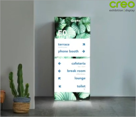 Image of a Backlit Pop Up Stand