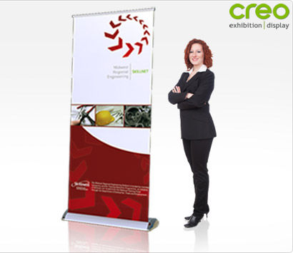 Roll Up Banner Stand - Smart Pull Up Stand