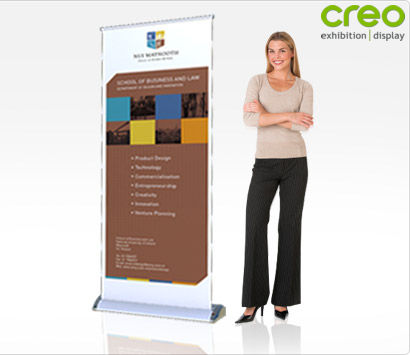 Roll Up Banner Stand - Smart Pull Up