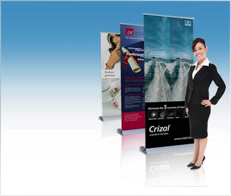 Banner Stand - Roll Up - Pull Up Stands