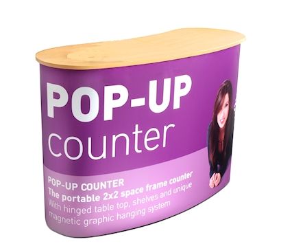 Popup Curved Counter Image from Creo Ireland