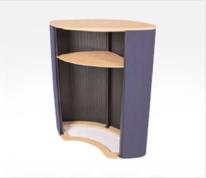 Portable Counter -  Luna - Internal Shelf - Back View Image from Creo Ireland