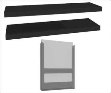 Edge Acesssories - Product Shelves/Brochure Holders