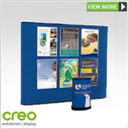 Fabric Stand Hire - Poster Displays from Creo Ireland