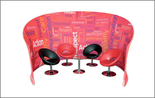 Image of a Fabric Popup Display Stand