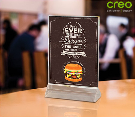 Image of a Table Top Menu Holder