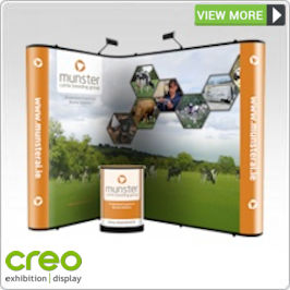 Nomadic Corner Popup Stands from Creo Ireland