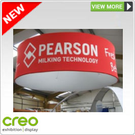 Overhead Fabric Displays from Creo Ireland