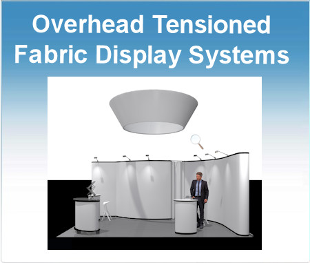 Image of Overhead Fabric Display System