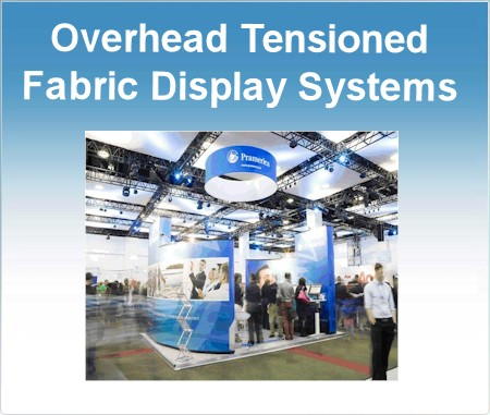 Image of Overhead Ring Fabric Display System