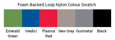 Image of a Colour Swatch Luxury Foam Backed Loop Nylon