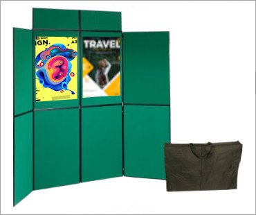 Image of a Folding Fabric Panel Display Stand