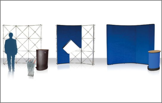Image of a Fabric Rental Display Stands