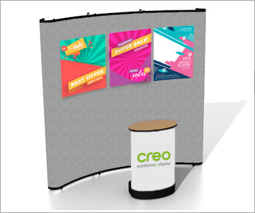 Image of a C33 Fabric Poster Display Stand