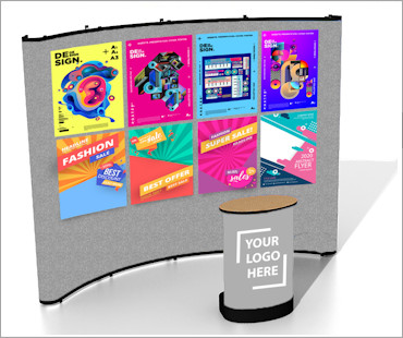 Image of a C34 Fabric Poster Display Stand