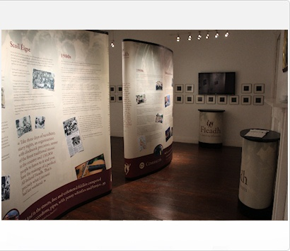 Image of a Pop Up Stand at Fleadh Cheoil na hÉireann Exhibition