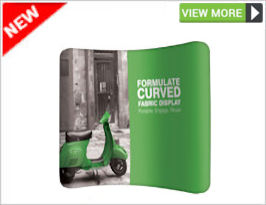 Formulate Curved Fabric Display
