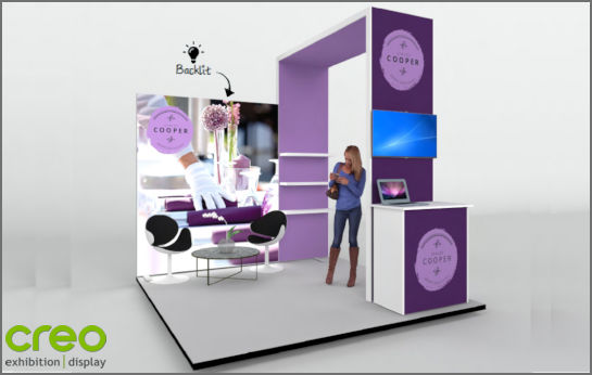 Image of a Modular Backlit Fabric Exhibition Stands