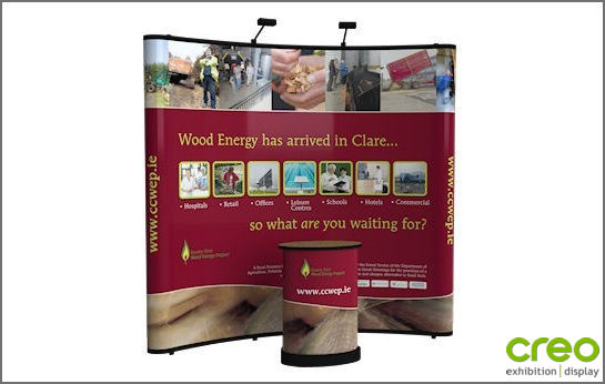 Image of a Nomadic C33 Curved Popup Stand