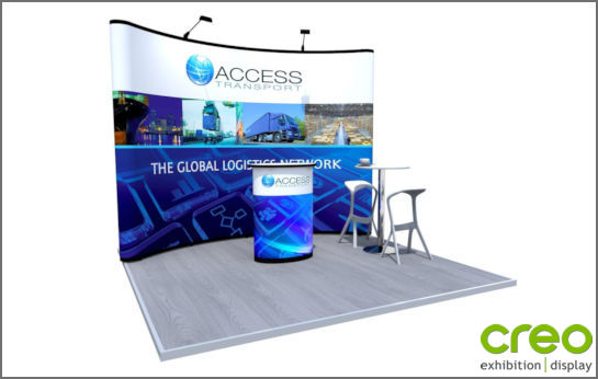 Image of an Nomadic C33 Curved Popup Stand