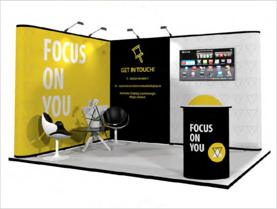 Nomadic Display Modular Popup Stand Design 3 Reconfiguration