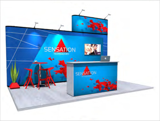 Nomadic Display Modular Popup Stand Design 4 Reconfiguration