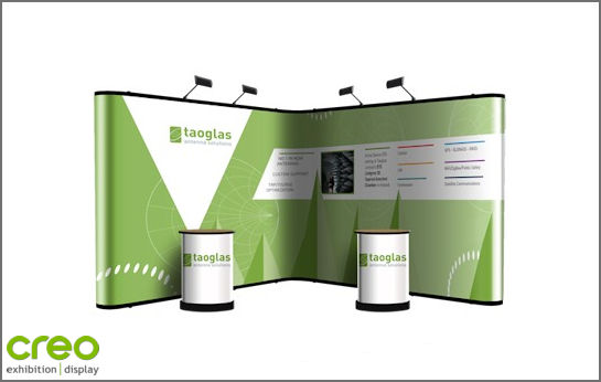 Nomadic Plus P33+P33 Corner Pop Up Stand