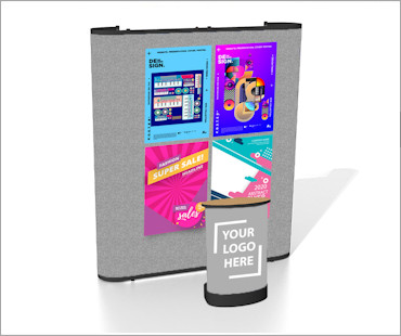 Image of a P32 Fabric Poster Display Stand
