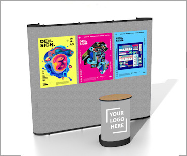 Image of a P33 Fabric Poster Display Stand